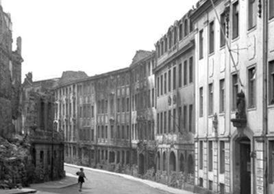 Meißner Straße im Jahr 1945