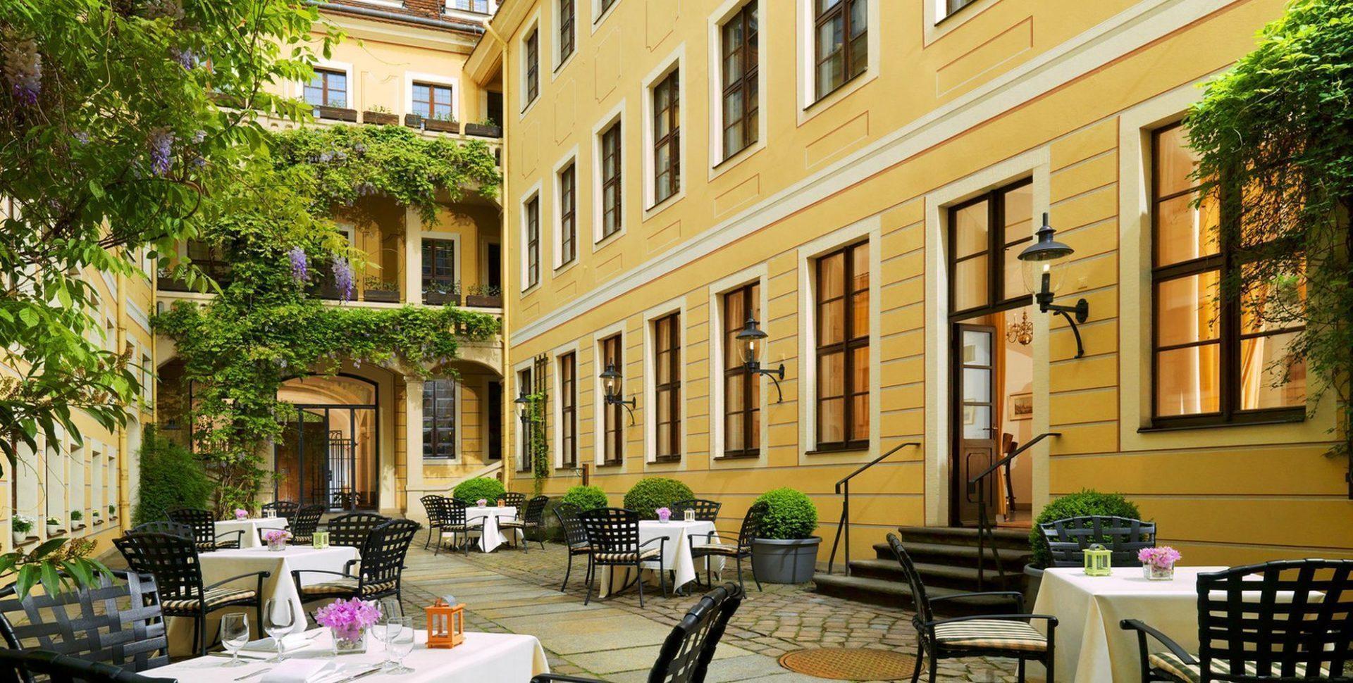 The Westin Bellevue Dresden - Cafe Bar Pöppelmann Innenhof