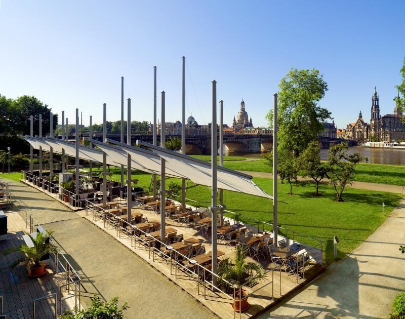 Biergarten Elbsegler im Bilderberg Hotel Dresden