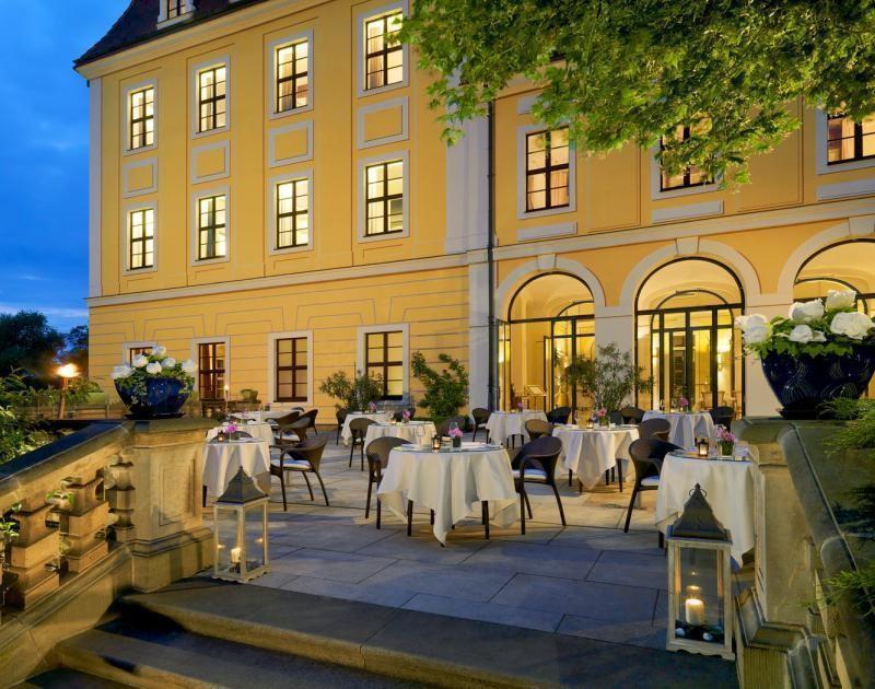 Canaletto Terrasse im Bilderberg Bellevue Dresden