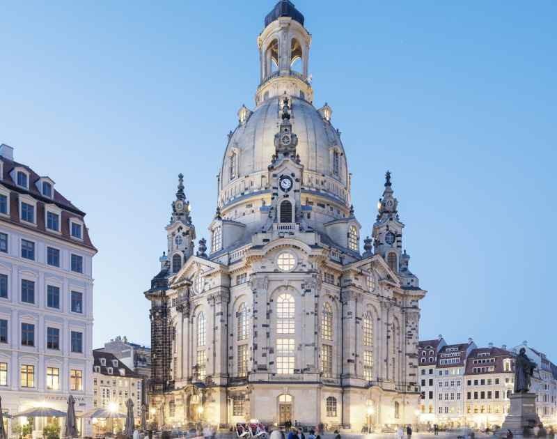 Visiting the Frauenkirche Dresden