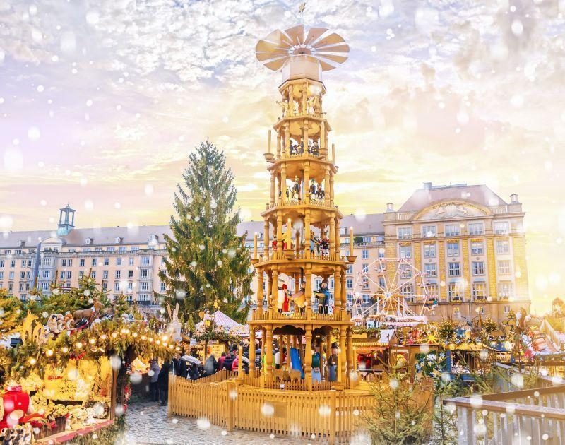 Dresden Kerstmarkt in Duitsland