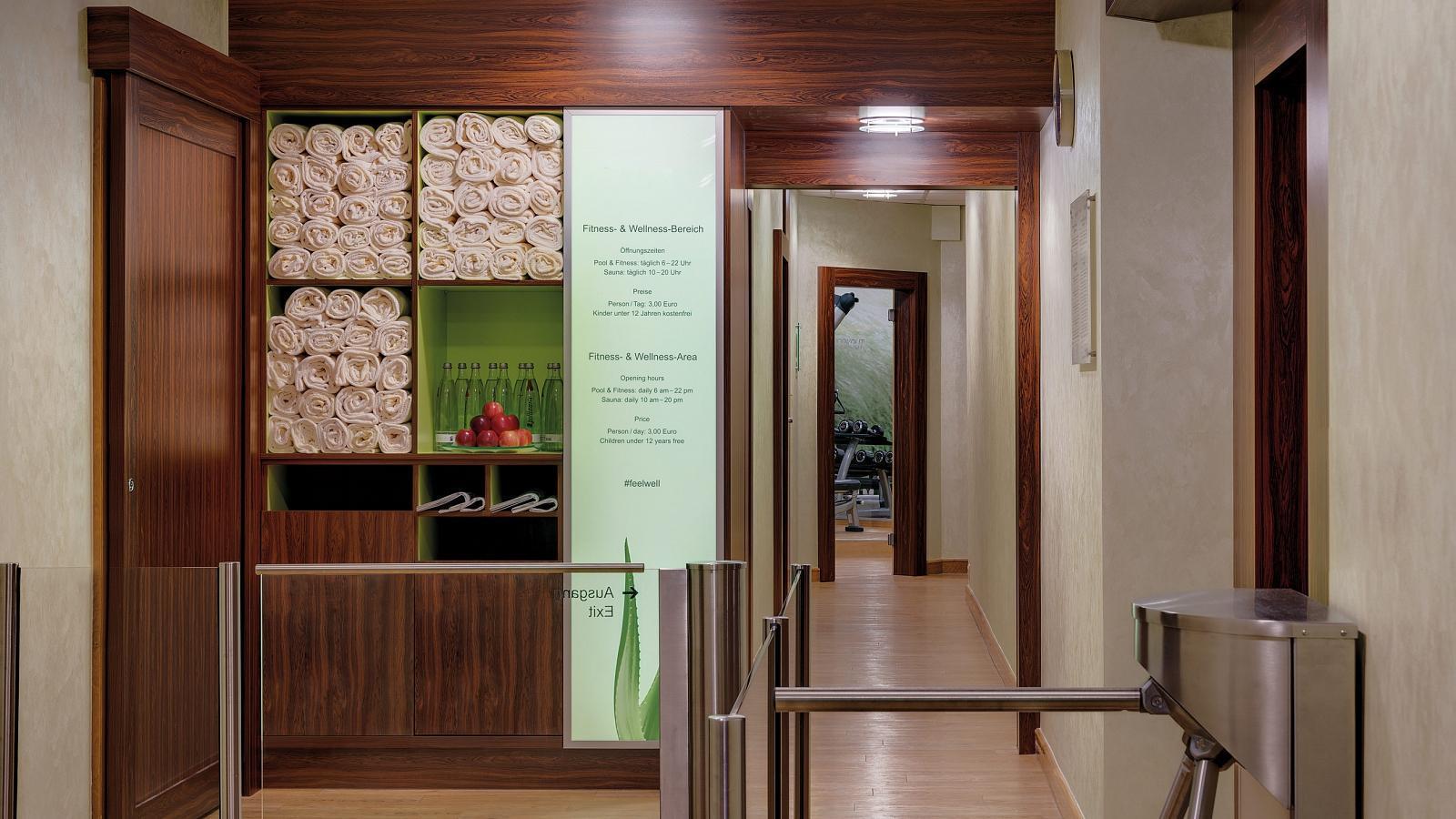 Wellnessbereich Eingang