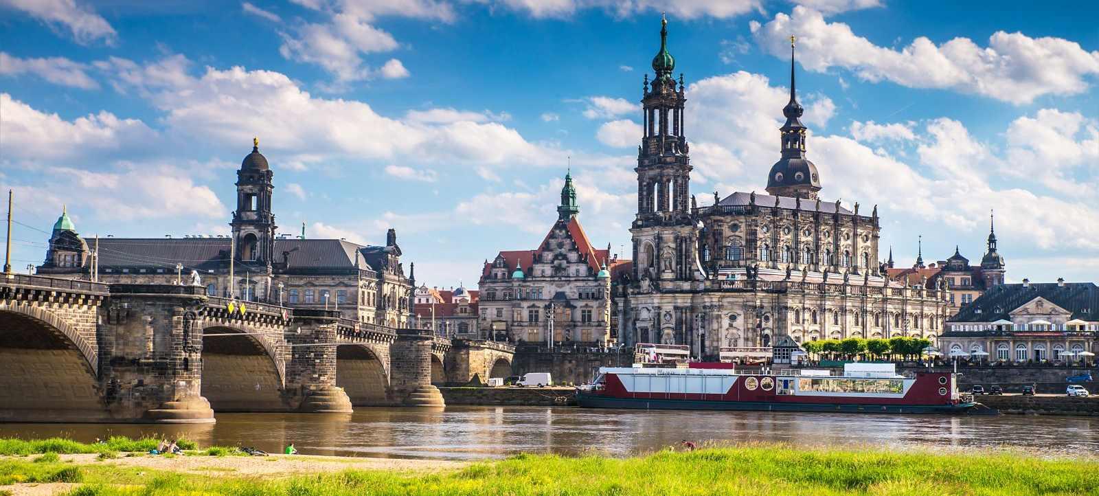 Aussicht auf Dresden und die Elbe